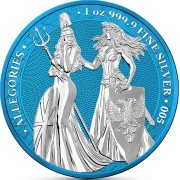 Germania THE ALLEGORIES BRITANNIA & GERMANIA SPACE BLUE series SPACE EDITION 5 Mark 2019 Silver Coin 1 oz